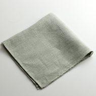 b3022-75-1 51x51手織りリネン/シルクフキン水色(マキテキスタイルスタジオ)