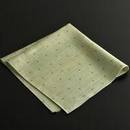 b3070-65-1 53.0x55.0麻薄草色薄で絣柄和ナフキン