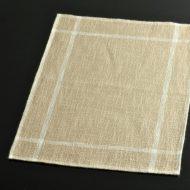 b5026-20-1 45.5×32.5薄茶に白ラインランチョン