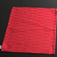 b5043-25-1 46.0×33.0真紅縦長格子ランチョン