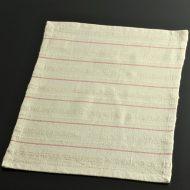 b5068-25-1 45.5×31.5グレー地織入り赤ストライプランチョン