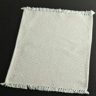 b5071-20-1 49.0×32.0水色薄茶粗織ランチョン(房つき)
