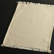 b5081-20-1 50.0×32.0柿色系粗織ランチョン(房つき)