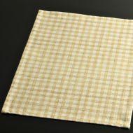 b5091-20-1 45.5×34.5生なりにからし色チェックランチョン