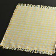 b5094-25-1 47.5×35.5グレーからし色チェックランチョン