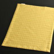 b5111-20-1 45.5×32.5濃い黄に白オレンジドットランチョン