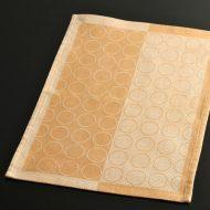 b5112-20-1 45.5×31.5オレンジ濃淡粗織ランチョン(丸柄入り)