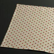 b5117-35-1 46.5×36.5グレーにオレンジドットランチョン
