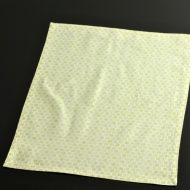 b5124-25-1 43.5×32.0白地に若草小模様入りランチョン
