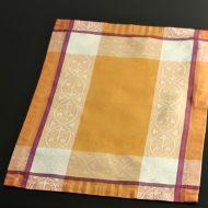 b5134-50-1 53.0×37.0ジャガード織りオレンジ紫枠ランチョン