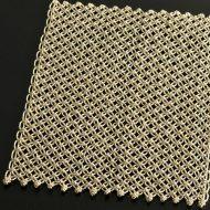 b5141-45-1 30.0×21.0ベージュ麻糸レースティーマット(シングル編み)