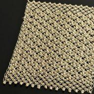 b5142-45-1 31.0×20.0ベージュ麻糸ティーマット(ダブル)