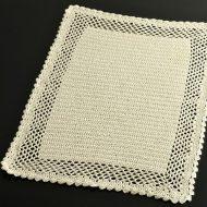 b5146-30-2 43.5×30.5生なりレース編みランチョン(縁透かし編み)