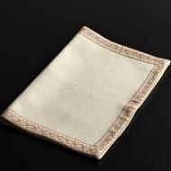 b5175-20-1 49.5×35.0きなり縁薄茶刺繍ランチョン