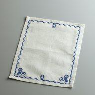 b5196-35-1 19.5×24.0ヴィラモスキー刺繍(青)グレーティーマット