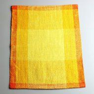 b5198-60-1 34.0×46.0北欧麻オレンジ/黄格子ランチョン
