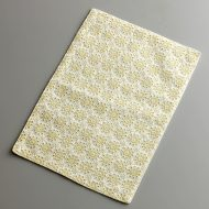 b5201-20-1 30.0×20.7白地黄小花刺繍ティーマット