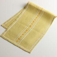 b5205-60-1 63×12黄刺繍ランナー
