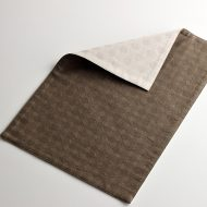 b5207-55-1 44.7×30.2リバーシブル茶/薄茶丸織柄ランチョン