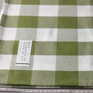 b6080-70-1 100x100草色濃淡と白大チェッククロス