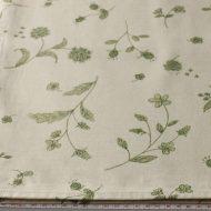 b6119-150-1 140x200生成りに緑花柄クロス