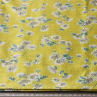 b6127-120-1 112x96黄色花柄クロス