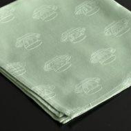b7013-25-1 43.0x43.0ティーカップ刺繍薄緑ナフキン