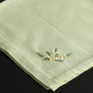 b7016-20-1 49.5x49.5薄縁ミモザ刺繍ナフキン