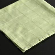 b7019-25-1 50.0x50.0薄緑チェック刺繍ナフキン