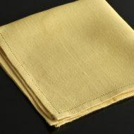 b7049-25-2 36.5x36.5麻黄色ナフキン(縁カットワーク)