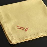 b7054-20-1 50.0x50.0MAMAIKUKO黄色赤縁ステッチナフキン