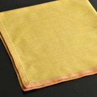 b7057-20-1 48.0x48.0辛子色縁オレンジ大判ナフキン