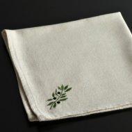 b7065-20-1 43.0x43.0生なりオリーブ刺繍うナフキン