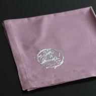 b7076-25-1 45.0x45.0花刺繍ローズピンクナフキン