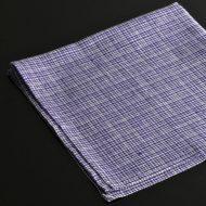 b7119-35-1 44.0x44.0花紺白チェックナフキン