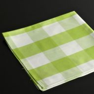 b7132-20-1 49.0x49.0黄緑白大チェックナフキン