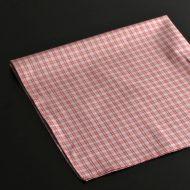 b7134-20-1 51.0x51.0白地に赤グレーチェックナフキン
