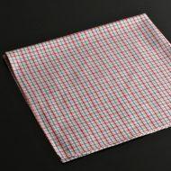 b7135-20-1 50.5x50.5白地に赤青チェックナフキン
