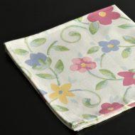 b7161-25-1 45.0x45.0白地花と蔦柄ナフキン