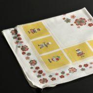 b7202-25-1 55.0x55.0白地人形花柄ナフキン