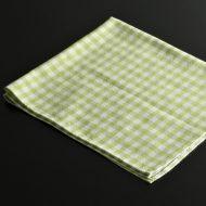 b7214-25-1 56.5x50.0草色ギンガムチェックナフキン