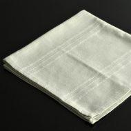 b7215-25-1 49.0x50.0薄グレー地刺繍ボーダーライン入りナフキン