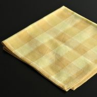 b7216-25-1 50.0x49.0黄濃淡チェックナフキン