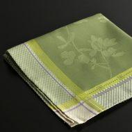 b7221-60-1 56.5x56.5縁白/緑市松中オリーブ色ナフキン