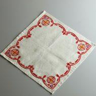 b7243-60-1 76x76ヴィラモスキー刺繍(赤)麻グレーナフキン