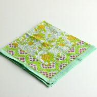 b7251-30-1 34x34Suma 黄緑/花柄ハンカチ
