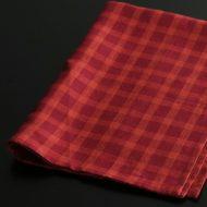 b8021-30-1 65.0×45.0麻赤オレンジ格子キッチンクロス