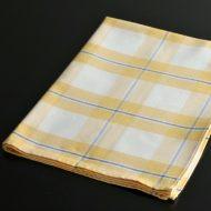 b8025-35-1 66.0×48.0Santens黄/青チェックキッチンクロス