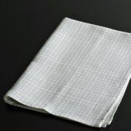 b8028-45-1 65.0×45.0麻水色/薄紫チェックキッチンクロス