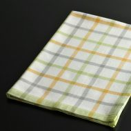 b8030-25-1 70.0×50.0オレンジ/グレー/黄緑格子キッチンクロス